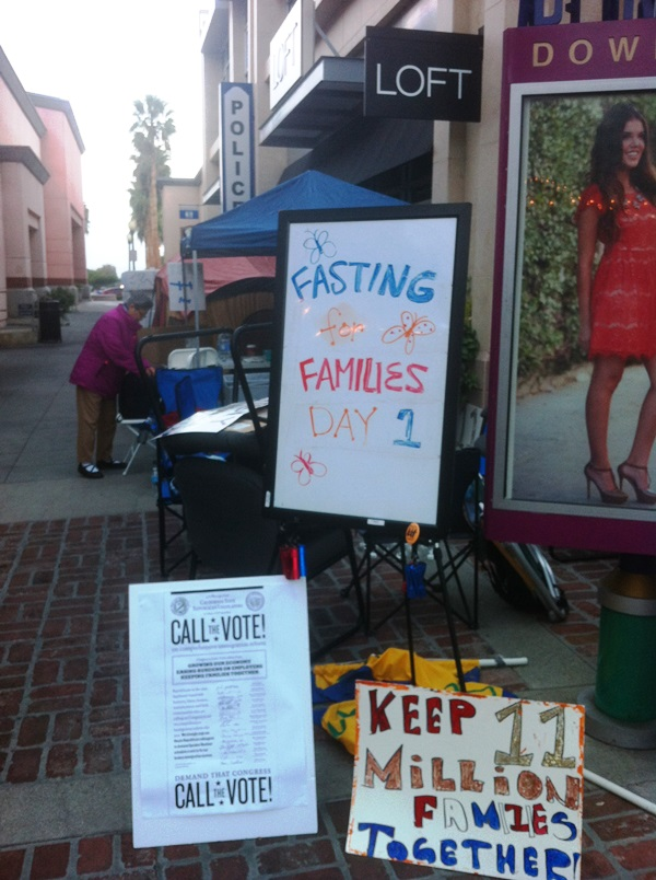 Fasting for Families Sign