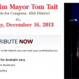 Maybe some people think that it's funny to give poor old John Moorlach a fainting spell by printing an ad for a Dec. 16 holiday fundraiser for Anaheim Mayor Tom Tait's...