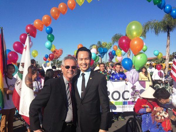Alan Lowenthal and Bao Nguyen at the parade