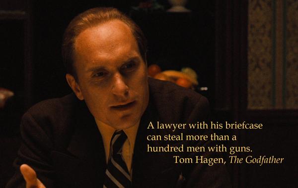 Tom Hagen - steal with briefcase