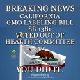 BREAKING NEWS….  The California Senate Health Committee passes SB – 1381to Label Genetically Engineered foods. Senator Noreen Evans (D) introduced the bill last month. It will now […]
