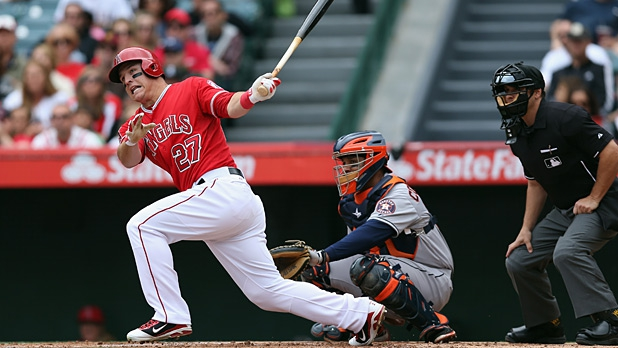 Mike Trout Batting 2014 Daniel Sterling Lamb o...