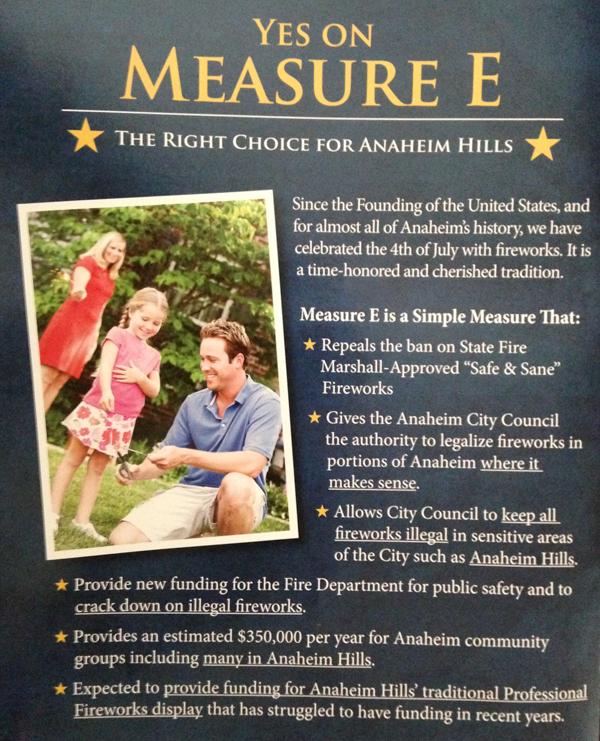 Measure E Elitists front