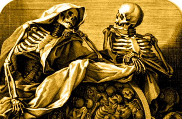Skeletons having conversation 3