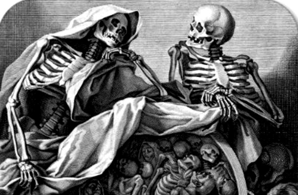 Skeletons having conversation
