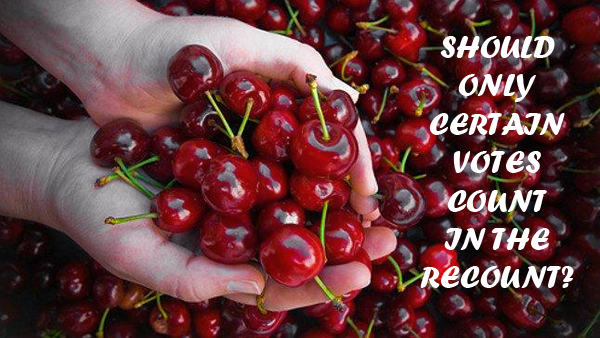 Cherries in cupped hands