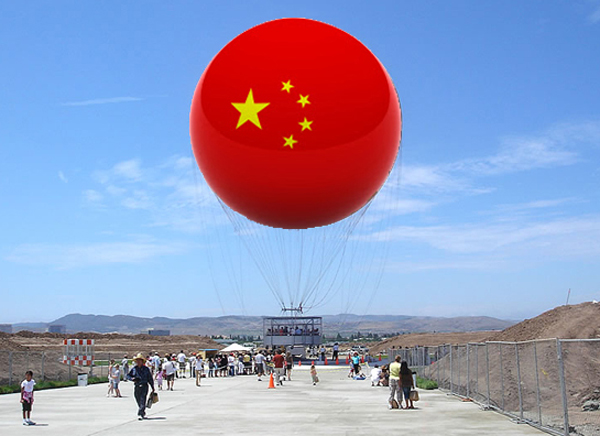 Chinese Flag Great Park Balloon