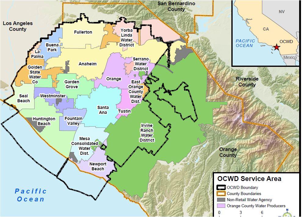 OCWD Service Map