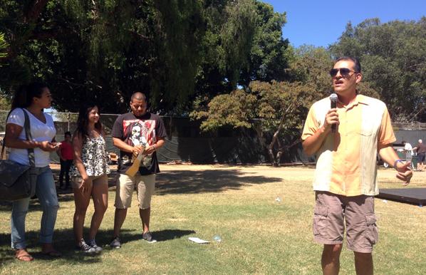 OCLF Santa Ana Zoo Picnic 2014 - Dr Moreno speaking