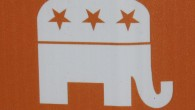 Katherine Daigle's new signs include the Republican logo, even though she isn't endorsed by the OC GOP.