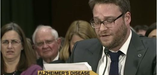 I hadn't heard at the time about Seth Rogen's testimony before Tom Harkin's Senate Labor and Health Committee, which occurred nine months ago this upcoming week.  (Better late than never, I...