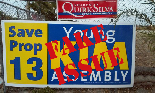 Young Kim - Big Lie on Prop 13 - Fake Issue