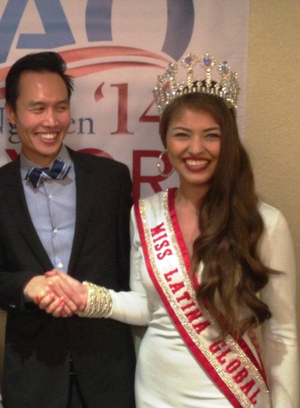 Bao with Miss Latina Global