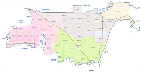 Anaheim Flatlands Map W-N-S