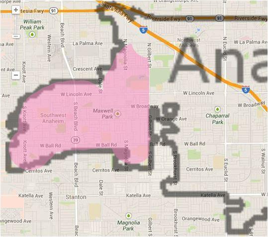 Anaheim map - District 1