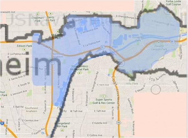 Anaheim map - District 5