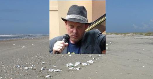 vern on styrofoam beach