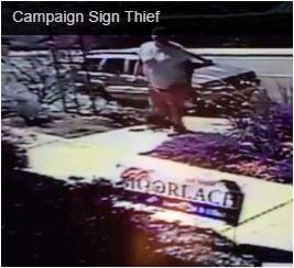 Burly Moorlach sign thief 2