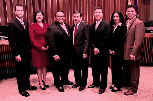 Santa Ana City Council cropped desat red