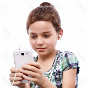 girl searching on phone