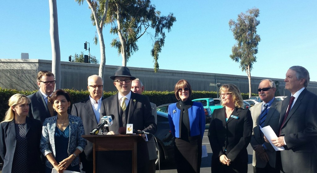 Our toll lane fighters, left to right:  HB Mayor Jill Hardy,
