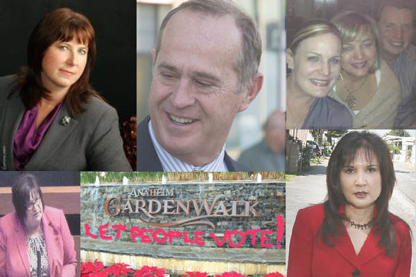 Clockwise from top right: Cynthia Ward; Tom Tait; Carrie Nocella, Kris Murray, and Jordan Brandman, Lorri Galloway, the GardenWalk, Debbie Moreno.