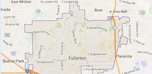 fullerton map