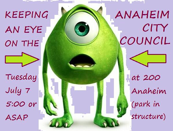 Eye on Anaheim City Council