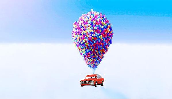 Pixar Balloons and Car
