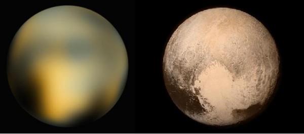 Pluto - Hubble v New-Horizons