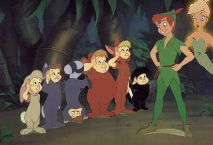 Tink, Peter, and the Lost Boys