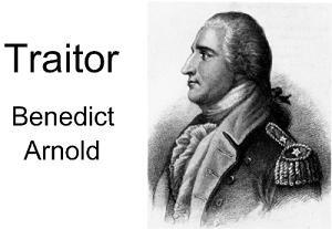 traitor benedict arnold