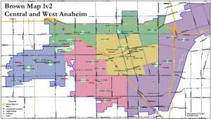Anaheim Maps - Brown