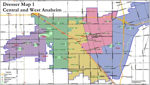 Anaheim Maps - Dresser