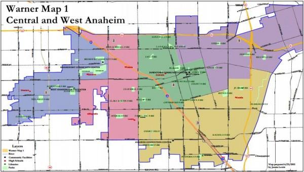 Anaheim Maps - Warner