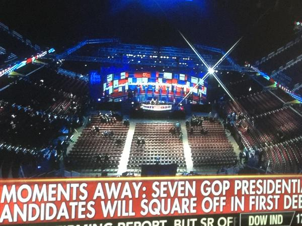 GOP JV Debate - empty auditorium