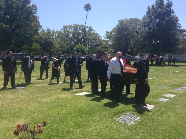 Carrying Hoagy's casket to the gravesite,