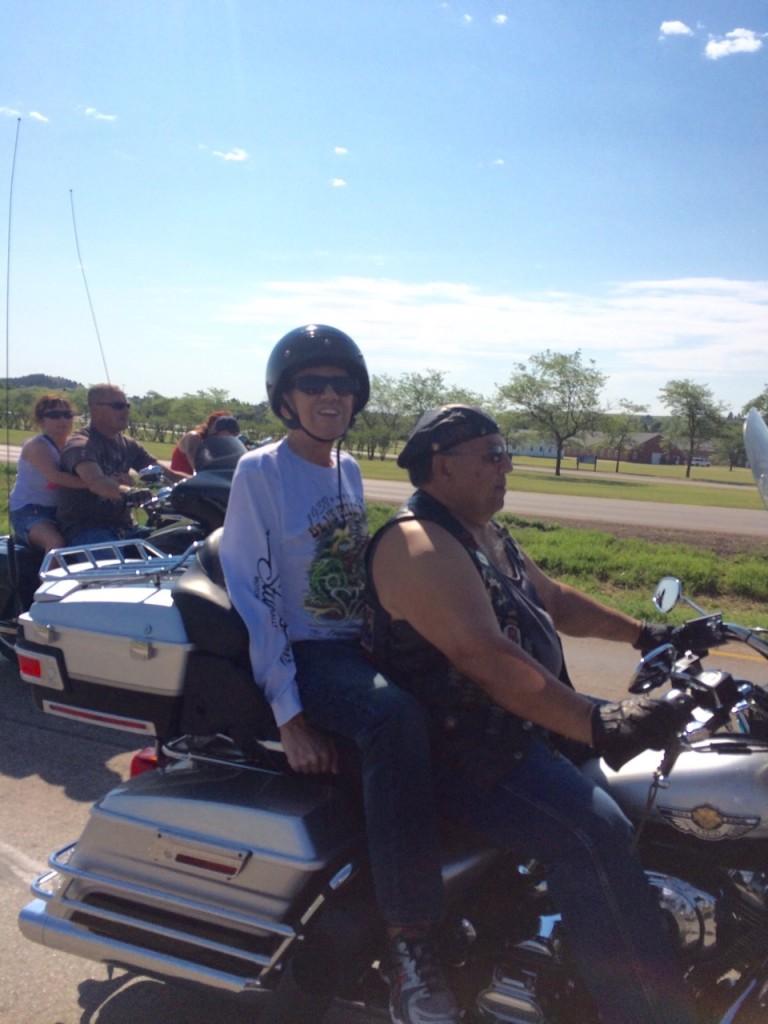 Hoagy Hoaglund, on a Harley a few weeks ago while visiting his brother in South Dakota.