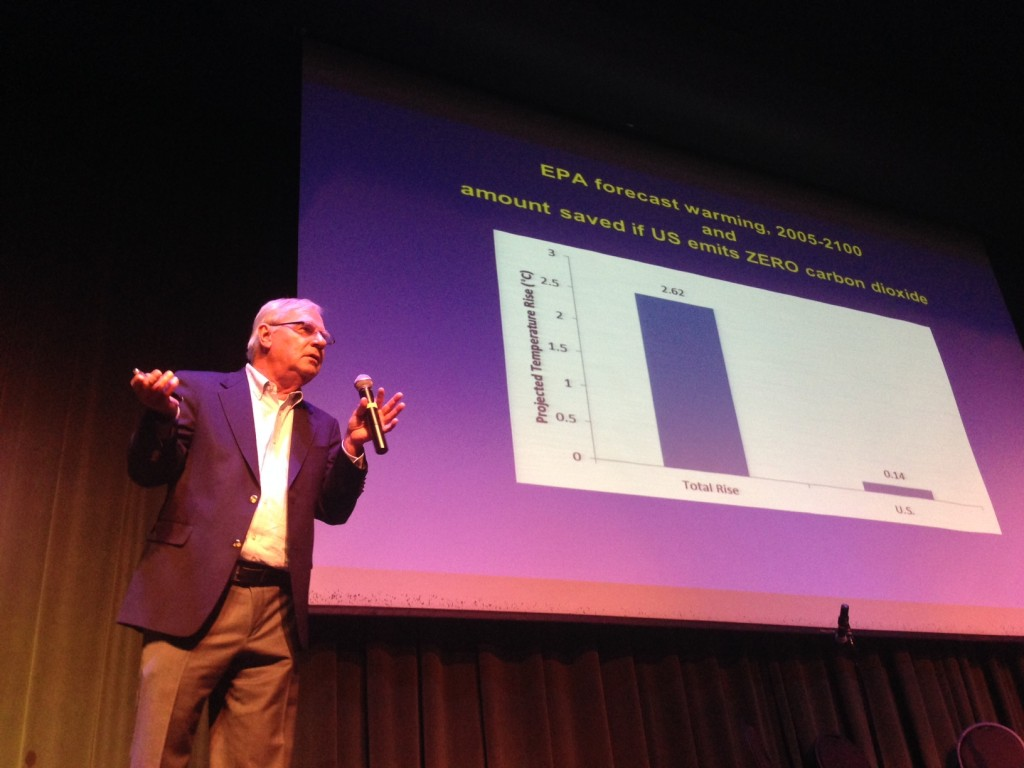 Dr. Pat Michaels of CATO arguing that the EPA's climate change predictions are lousy.