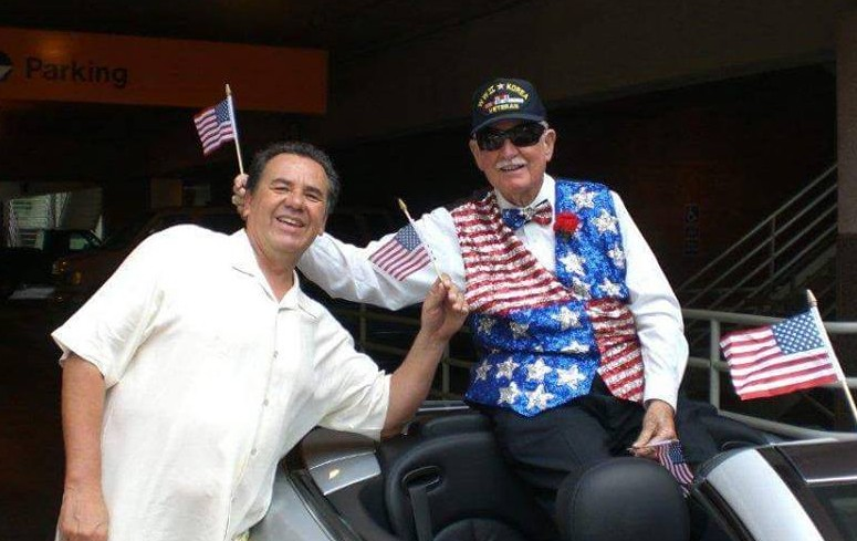 (Hoagy on left, at some patriotic thing...)