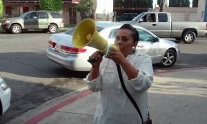 yesenia with bullhorn