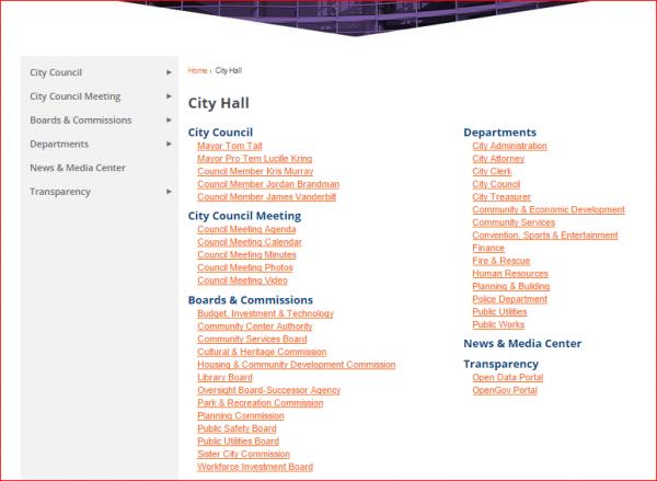 Anaheim Website 2 - City Hall