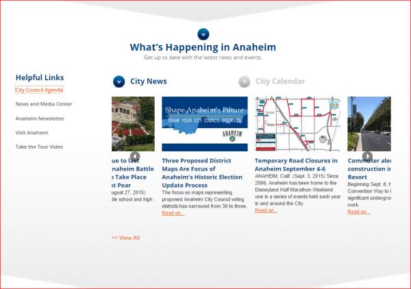 Anaheim Website 2 - What's Happening In