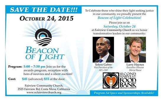 Beacon of Light 2015 awards program