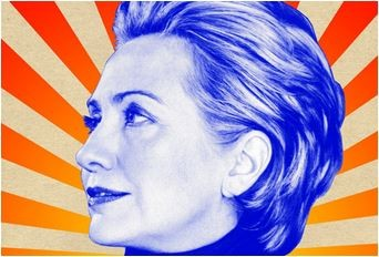 I *think* that this poster is by her supporters. Credits are -- Photo: Bryan Adams; Design: Tony Paryear.