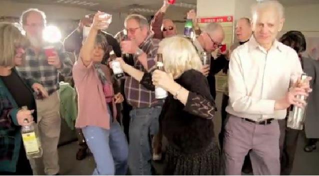 old people partying