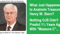 . . . It's time, once again for the magical twice-monthly Agenda review for the Anaheim City Council. It is going to be a quiet week. (Maybe.) Let's begin our […]