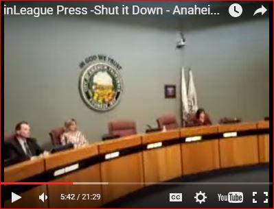 Shutdown - Anaheim Council Majority Waits Out Protesters