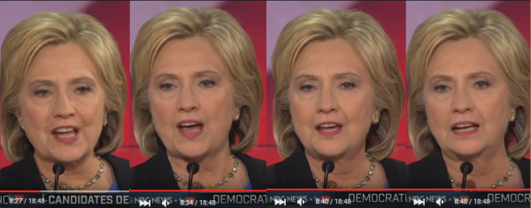 When her eyes are that unfocused she's either spewing out a memorized false political attack or she's drunk -- and she's not slurring her words.