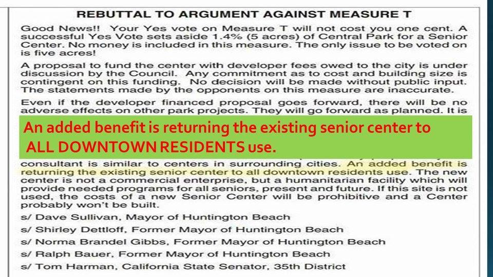 senior center promise measure t